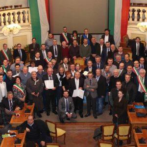 Premiazione Consorzio Parmigiano Reggiano in Sala Tricolore